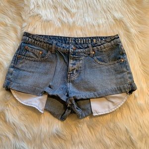 Cotton On The Frayed Mid Rise Denim Short